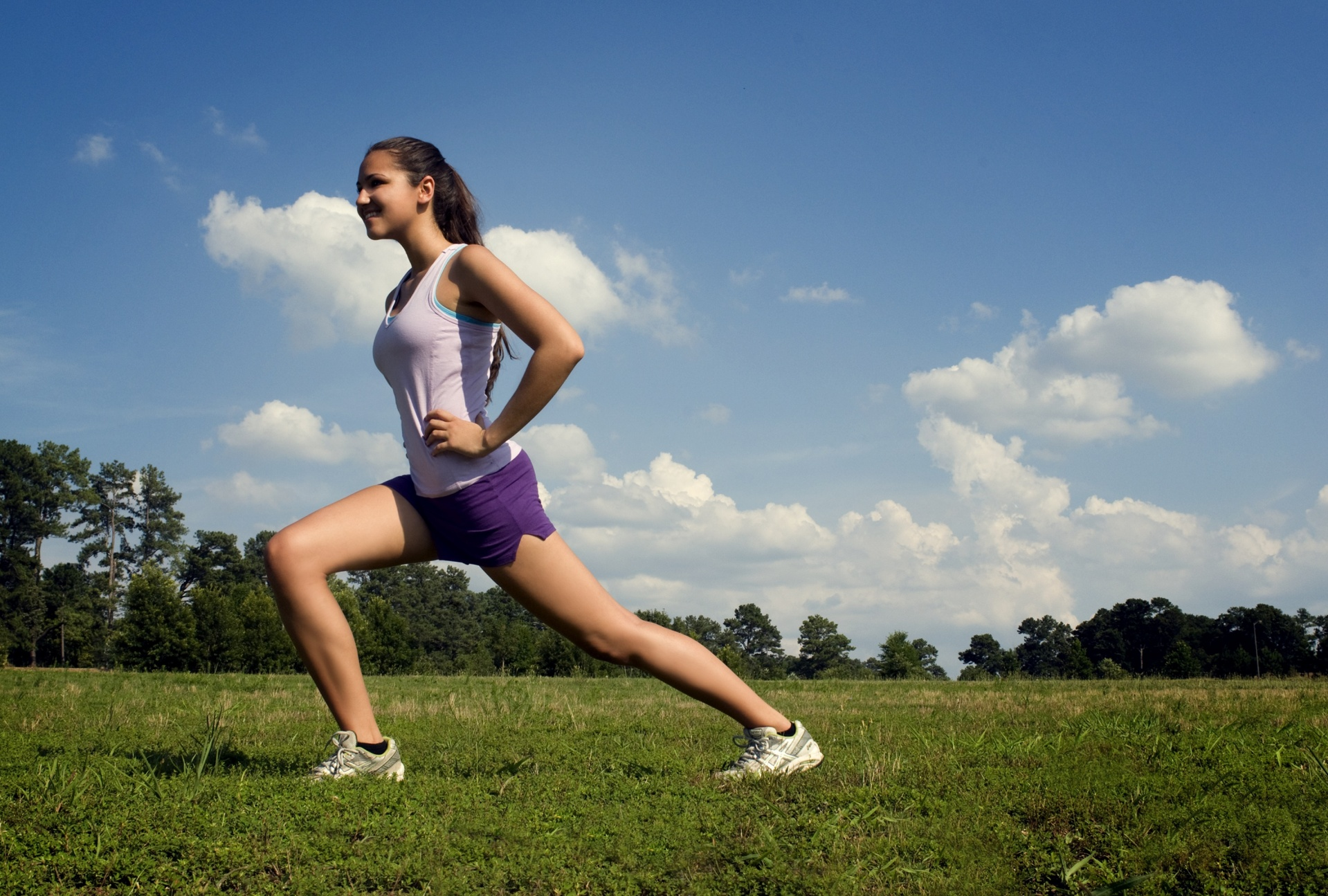 Sporty Young Woman Jogging