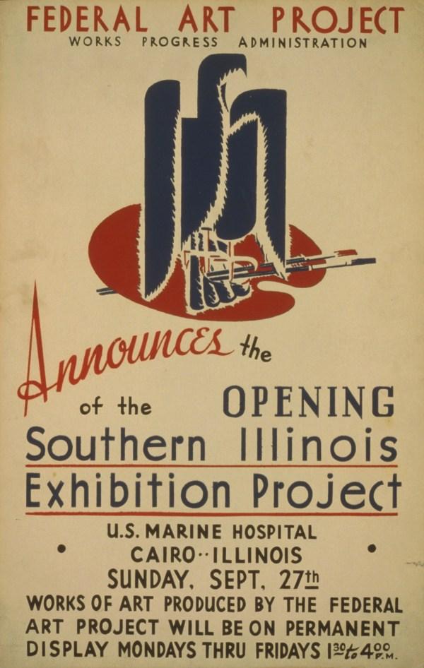 Vintage Art Exhibition Poster Free Stock - Public Domain