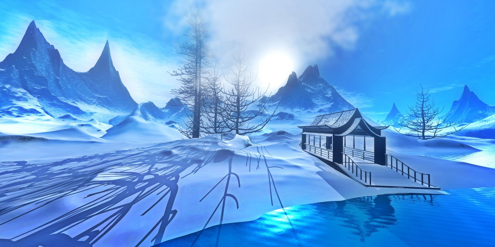 Anime Snow Wallpaper Winter Fantasy 2 Free Stock Photo Public Domain Pictures
