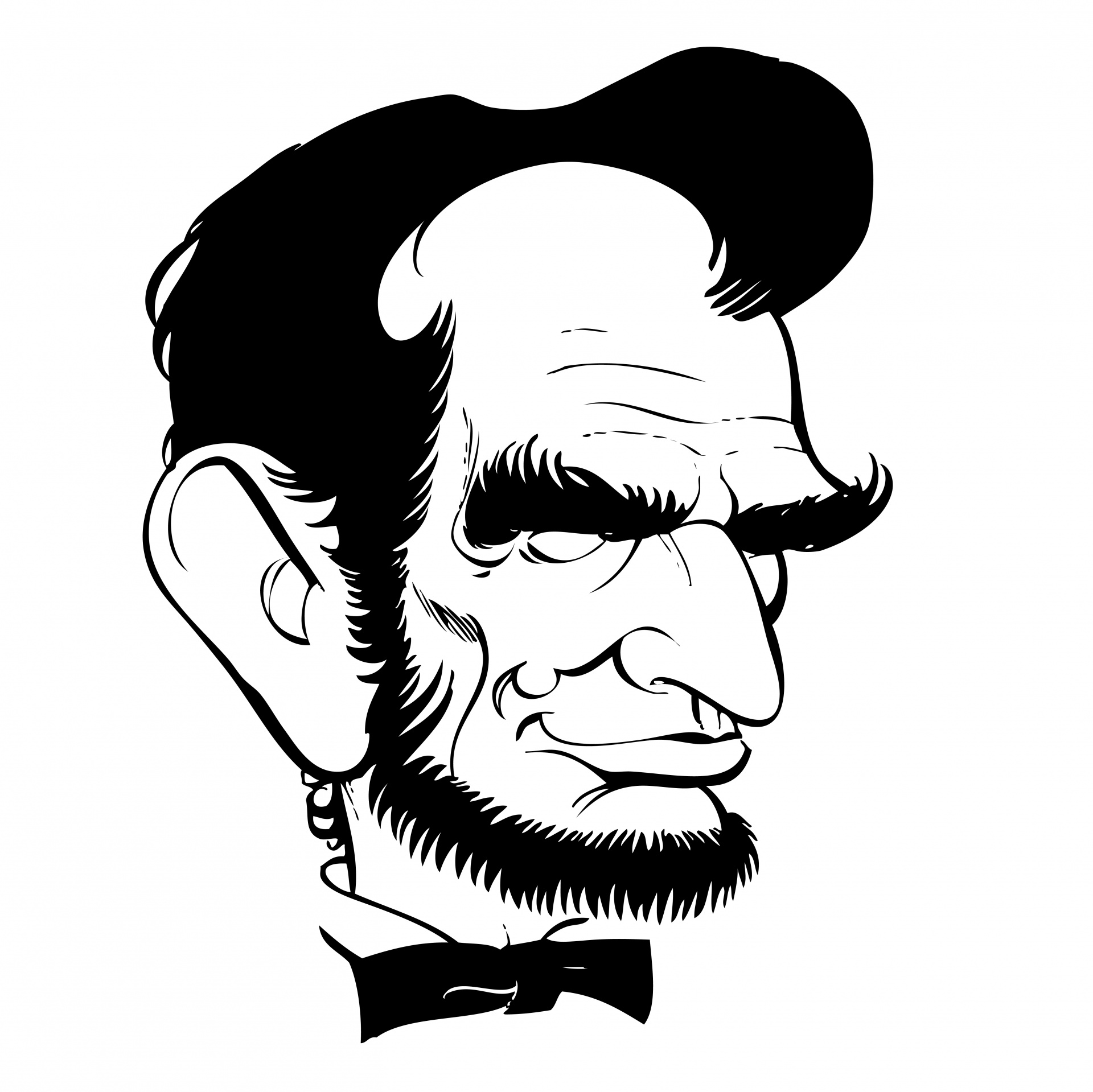 Abraham Lincoln Caricature Free Stock Photo