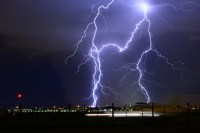 Multiple Lightning Bolts Free Stock Photo