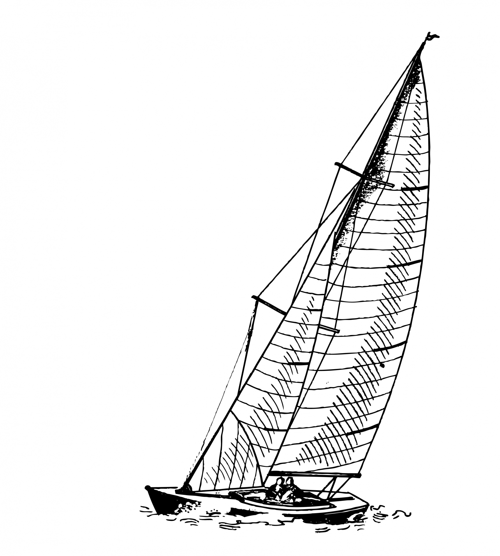 Sail Boat Clipart Illustration Free Stock Photo