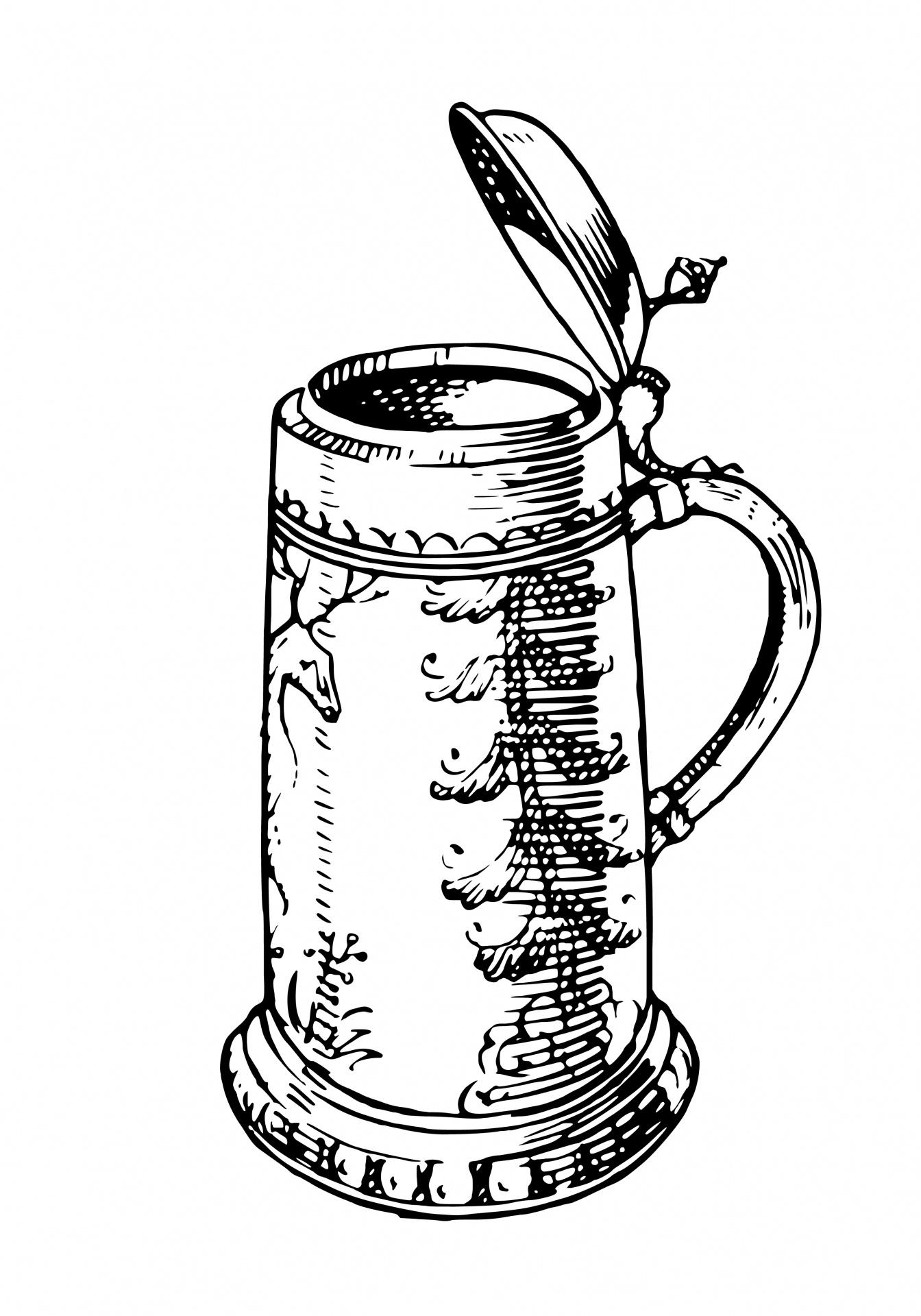 Tankard Stein Illustration Free Stock Photo