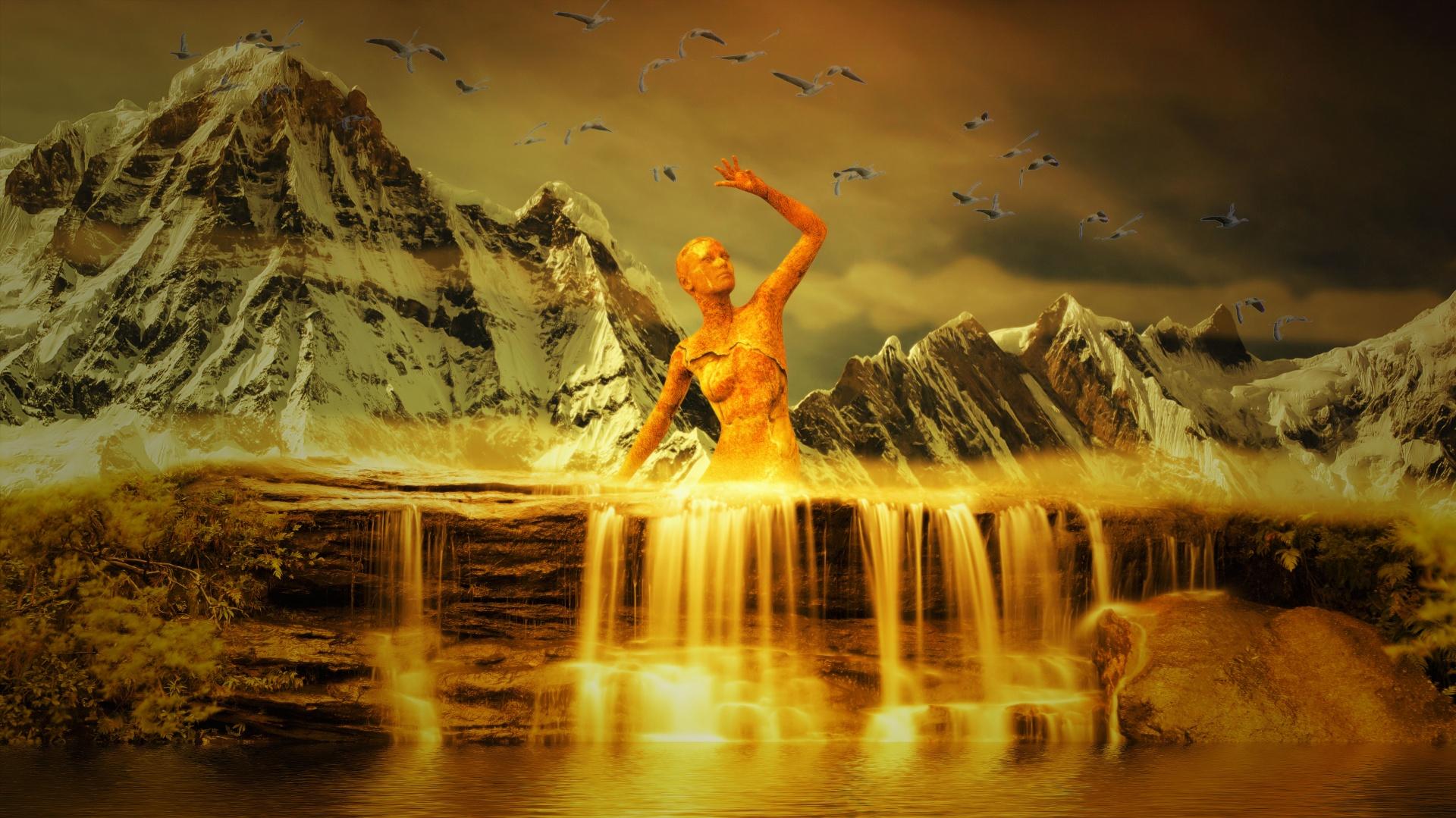 Wasserfall fantasy Kostenloses Stock Bild  Public Domain