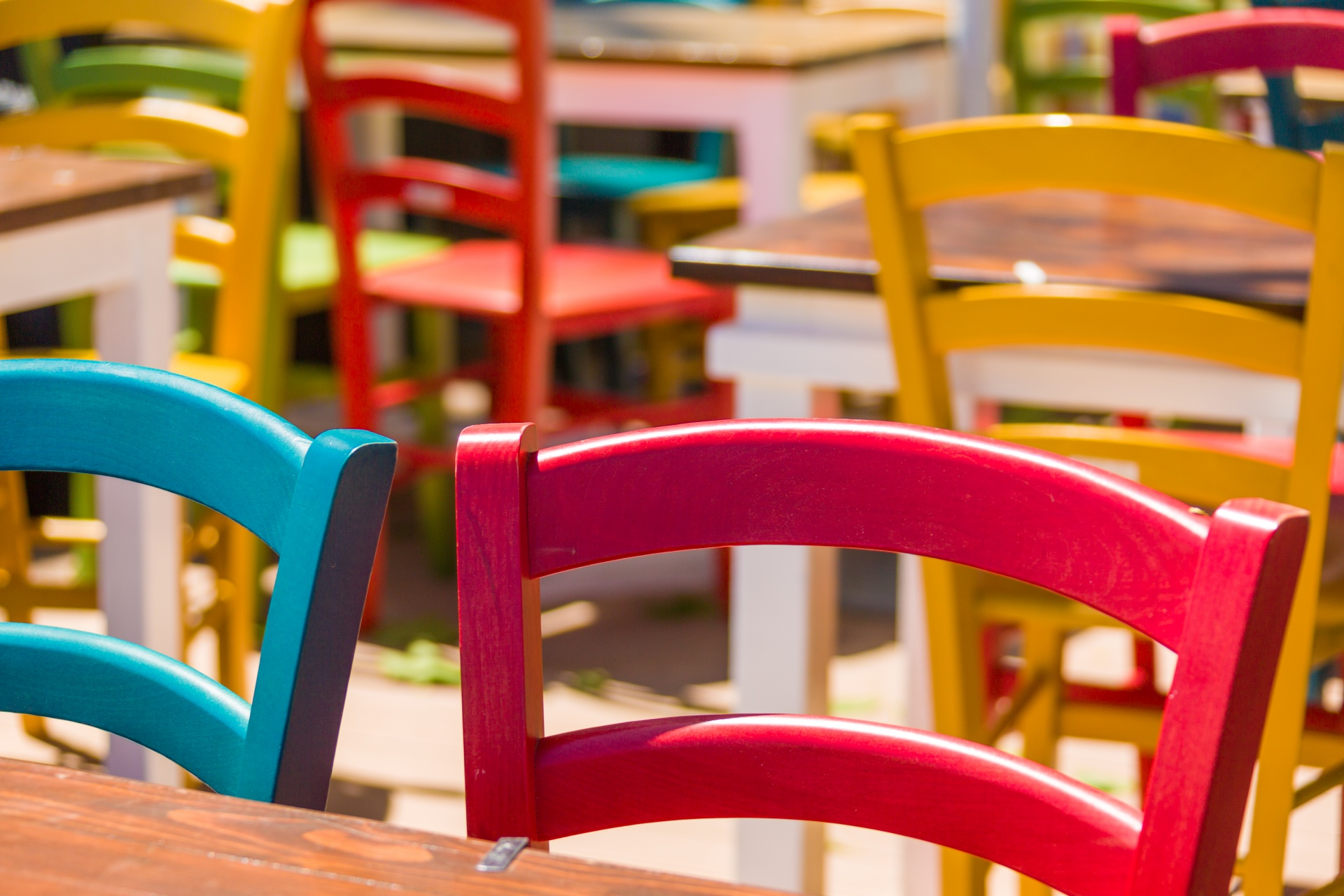 Colorful Wooden Chairs Free Stock Photo  Public Domain