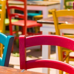 Colorful Wooden Kitchen Chairs Pottery Barn Dining Free Stock Photo Public Domain