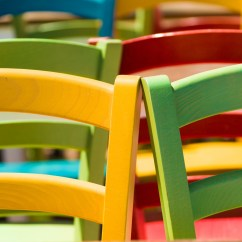 Colorful Wooden Kitchen Chairs Compact Desk Chair Free Stock Photo Public Domain