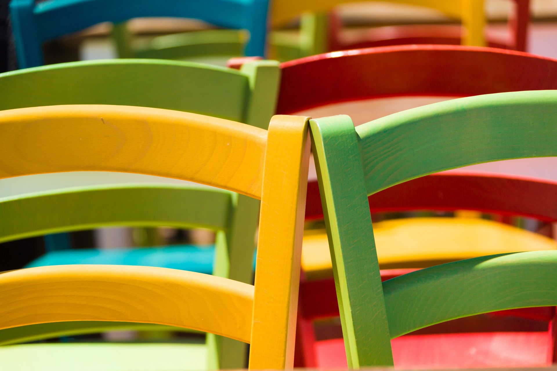 colorful wooden kitchen chairs recliner chair covers target free stock photo public domain