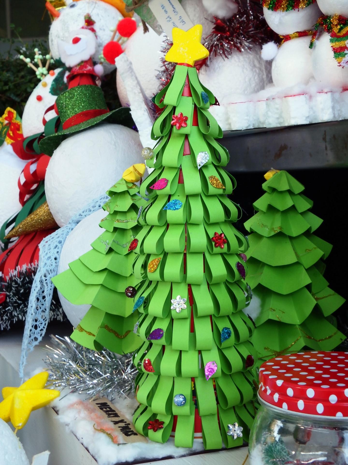 Paper Craft Christmas Tree Free Stock Photo Public