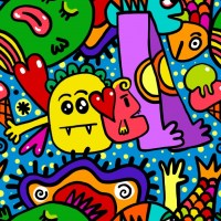 Seamless Doodle Tile Free Stock Photo - Public Domain Pictures