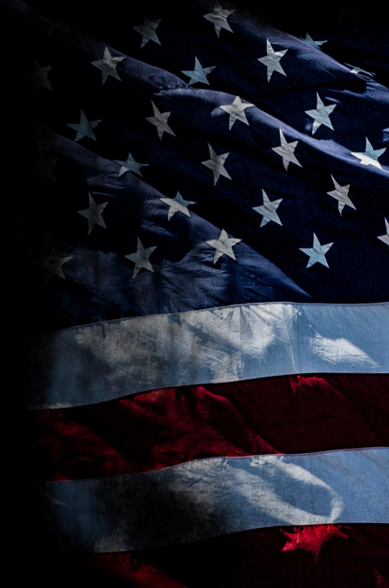 free american flag background