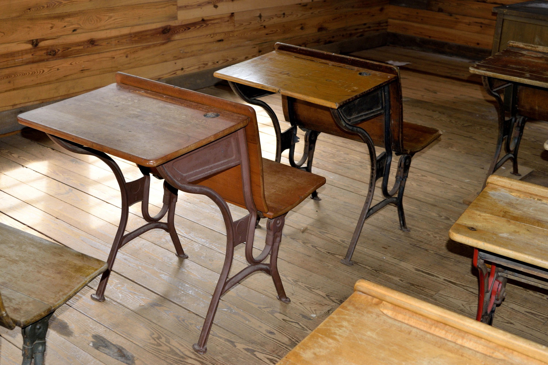 Antique Wood School Desk Free Stock Photo  Public Domain