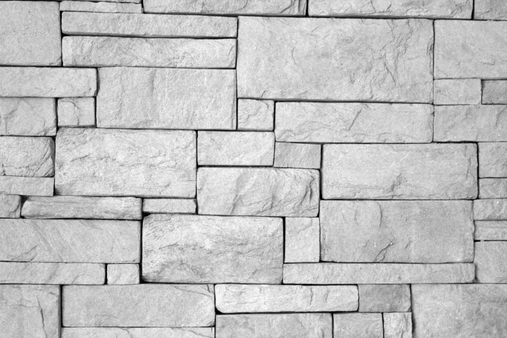 Black And White Brick Wall Free Stock Photo