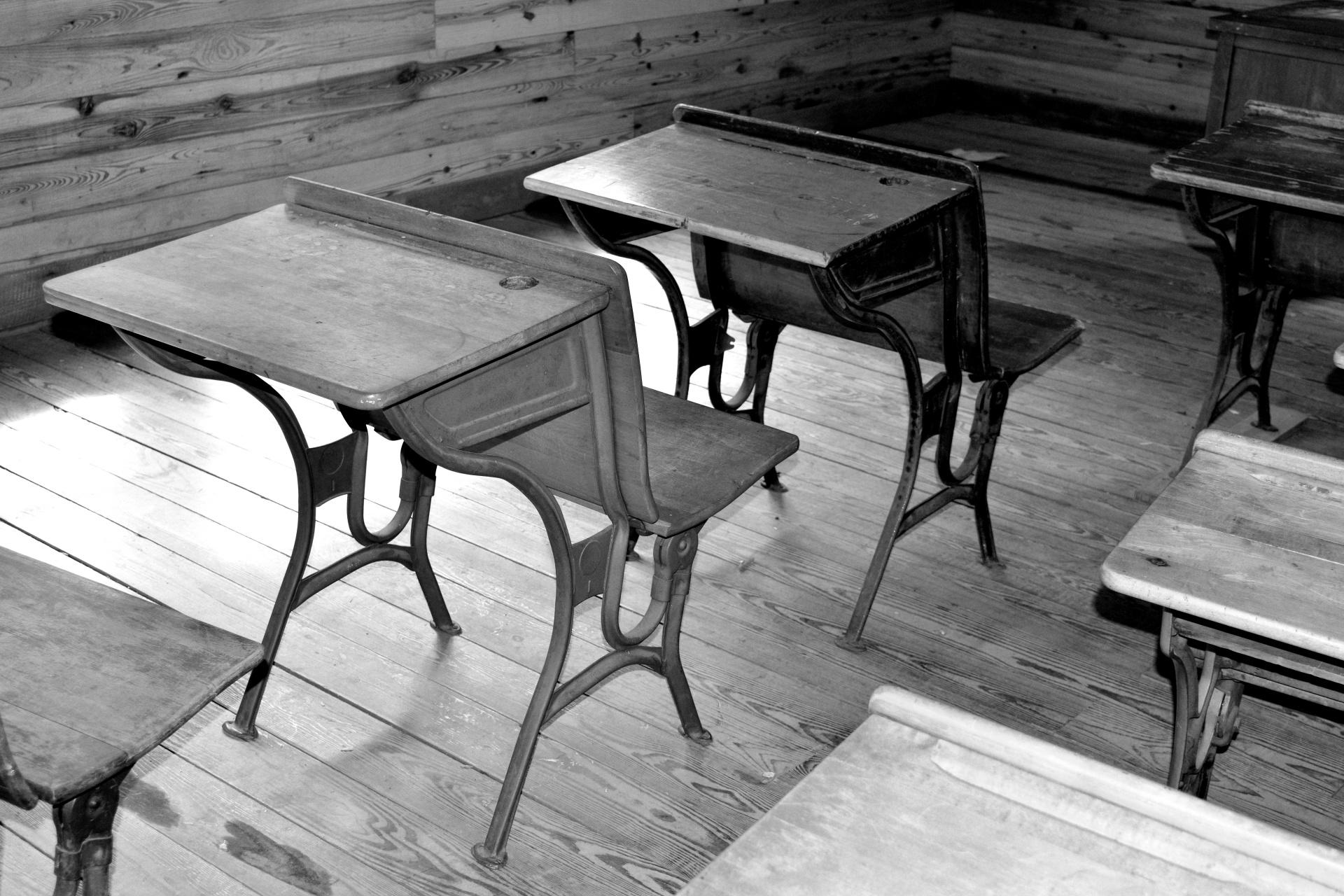 Old Wooden School Desk Free Stock Photo  Public Domain