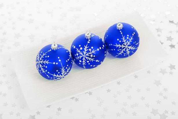 Blue Bauble Decorations Free Stock Photo Public Domain