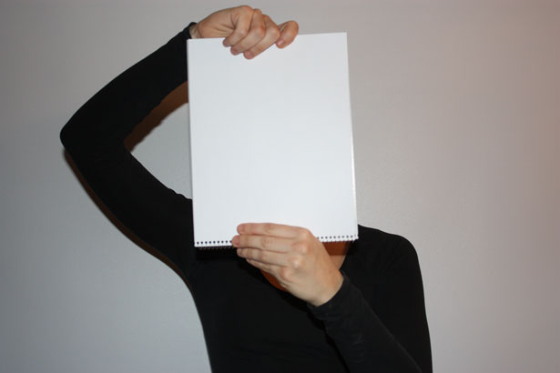 Girl And Blank Paper Free Stock Photo Public Domain Pictures