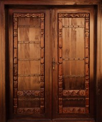 Carved Wooden Door Free Stock Photo