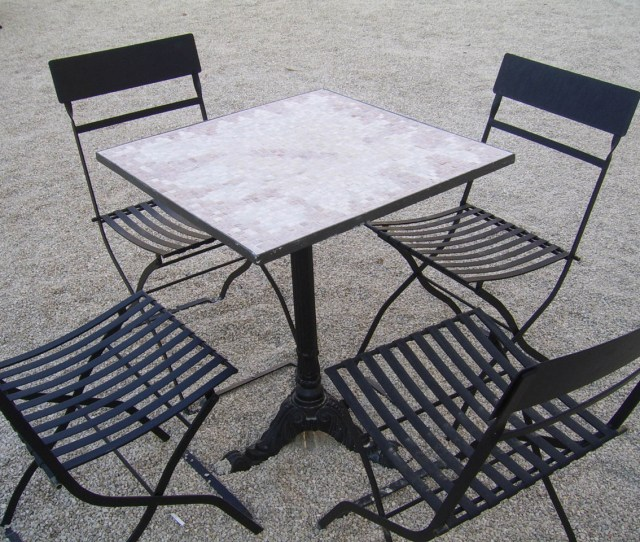 Iron Table And Chairs