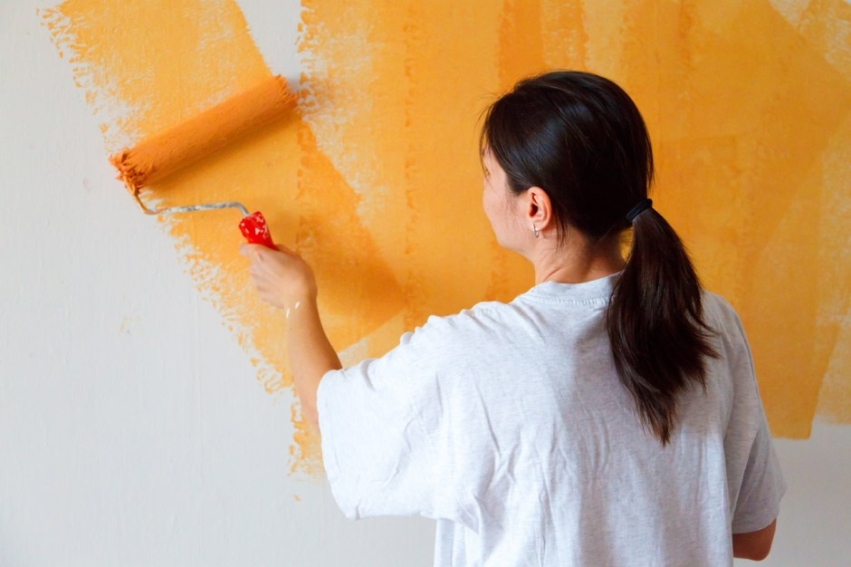 Painting Wall living alone