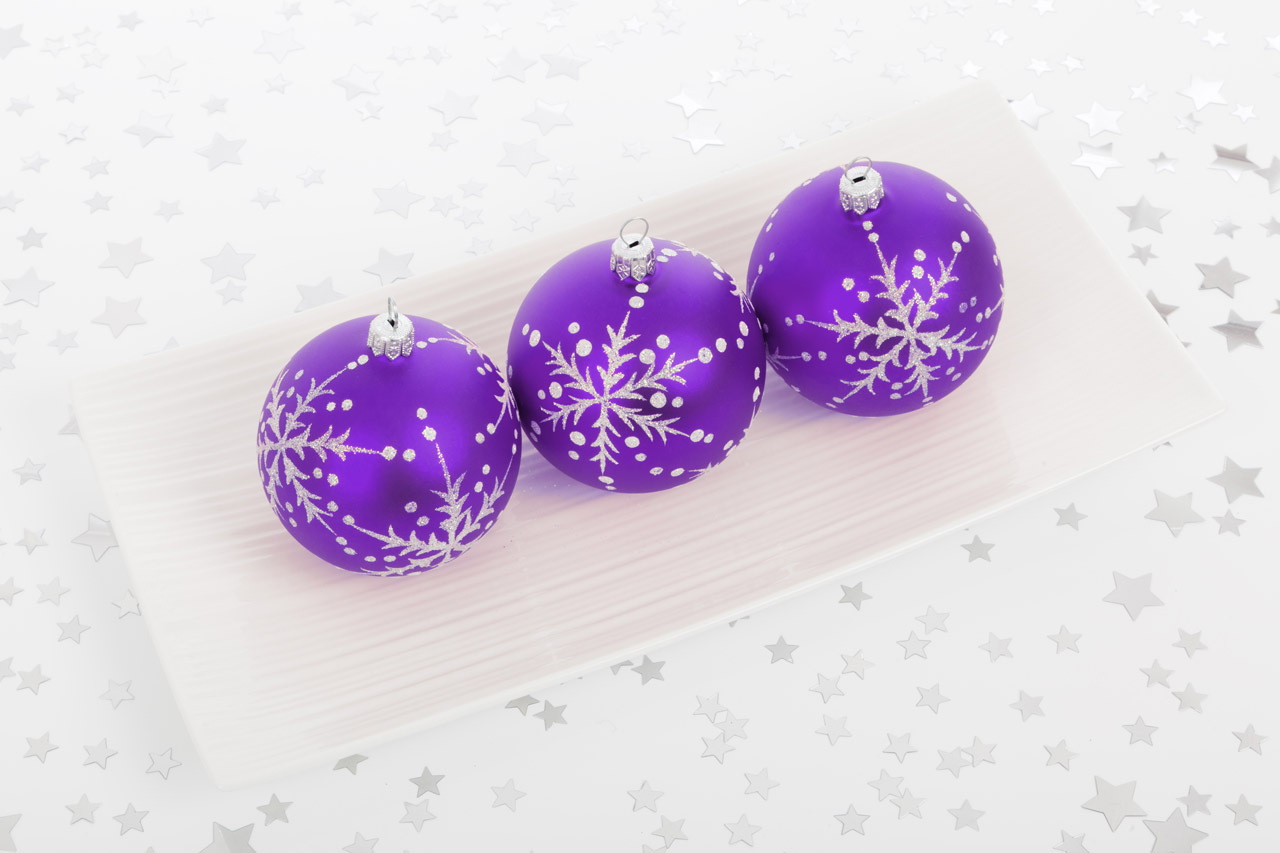 Purple Bauble Decorations Free Stock Photo Public Domain