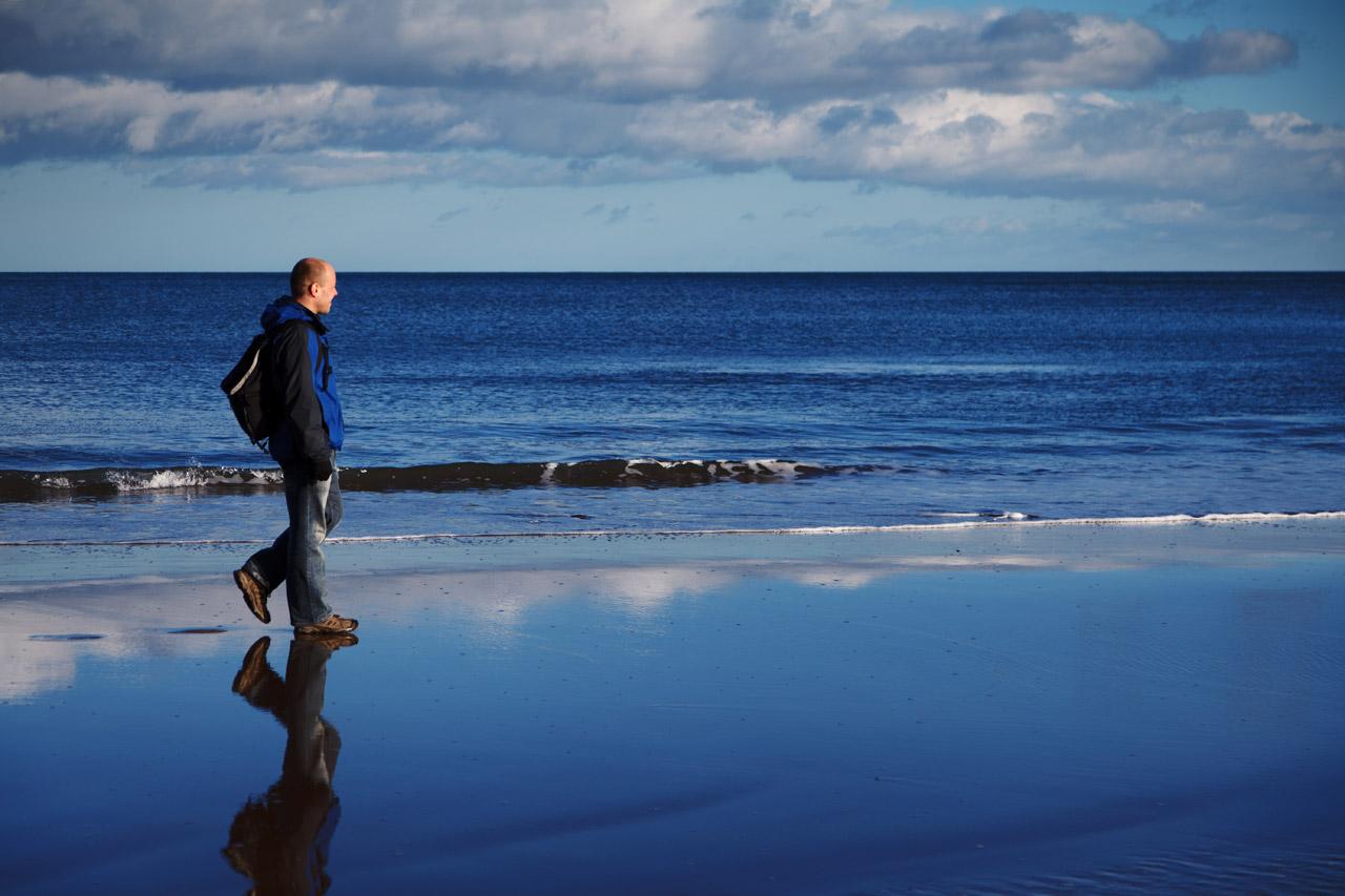 Walking, Beach