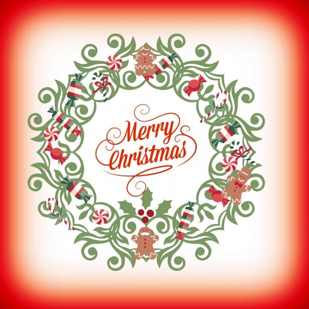 Feliz Navidad Corona Stock De Foto Gratis Public Domain