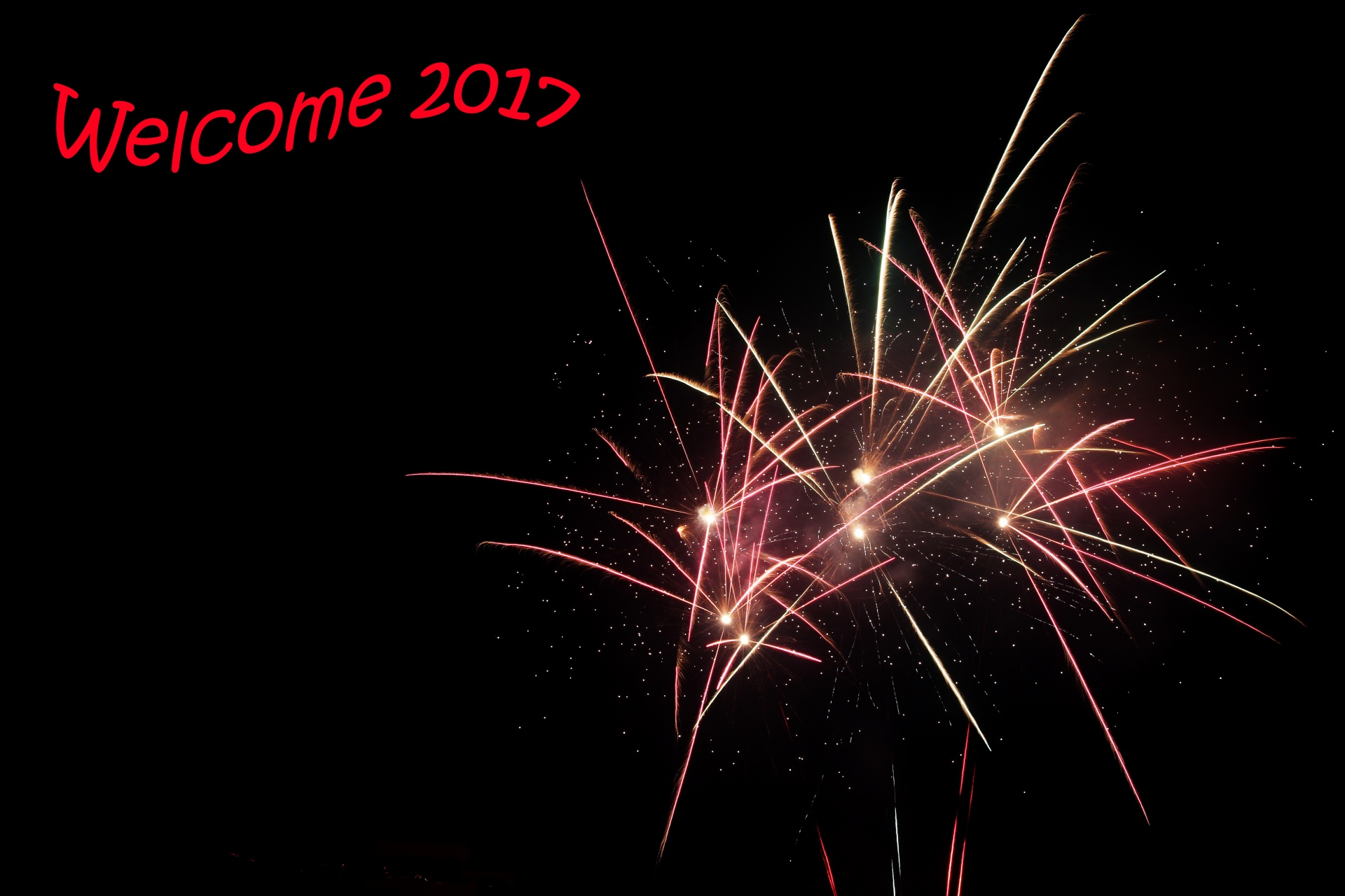 Welcome 2017 Fireworks