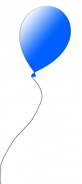 blue balloon free stock