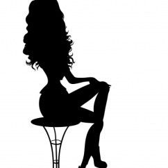 White X Back Chair Bedroom Design Ideas Image Pin-up Girl Silhouette Free Stock Photo - Public Domain Pictures