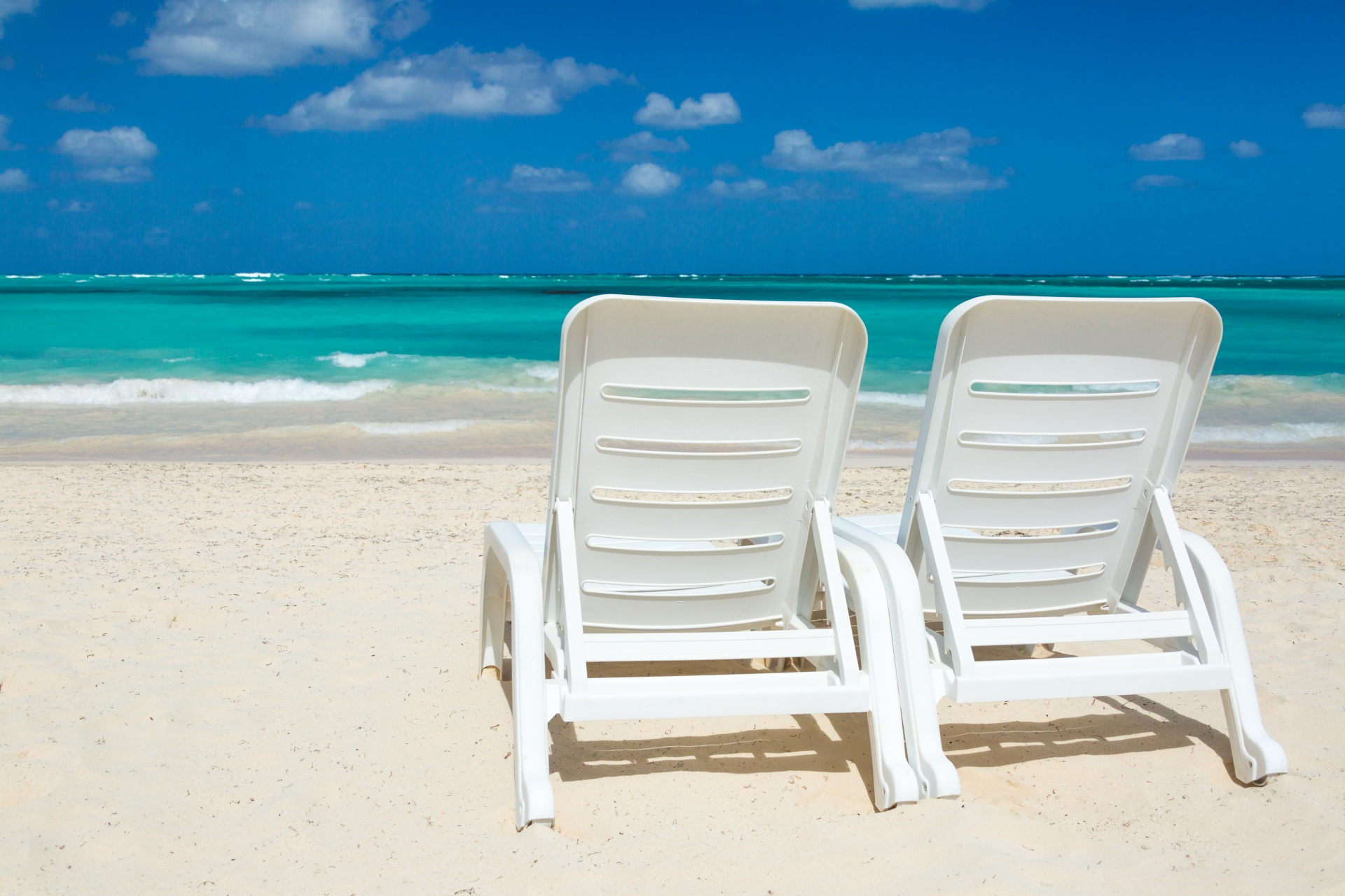 Beach Chairs And Sea Free Stock Photo  Public Domain Pictures