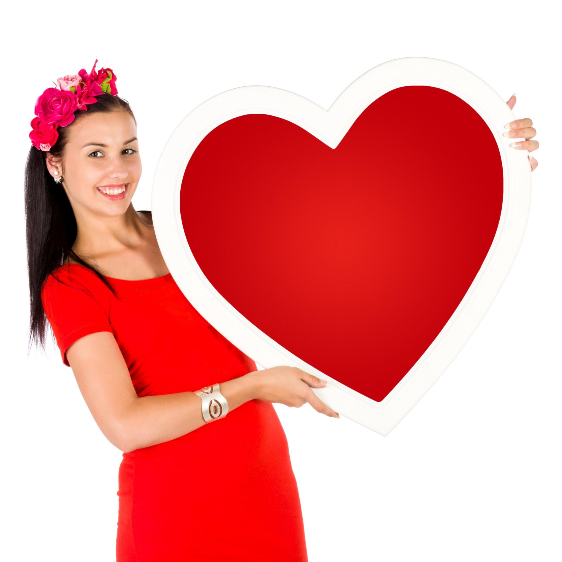 Woman Holding A Heart Free Stock Photo Public Domain
