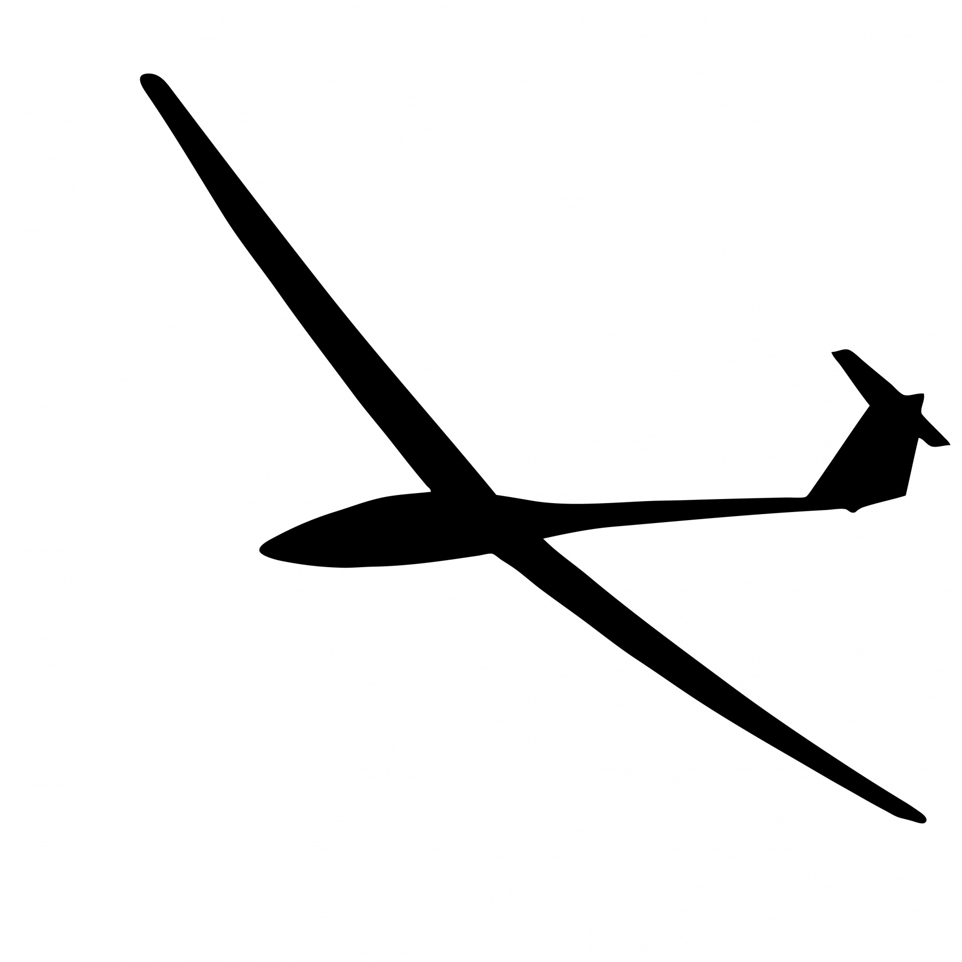 Glider Silhouette Free Stock Photo