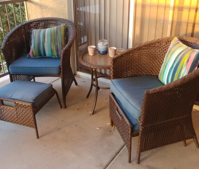 Porch Furniture At Sunset