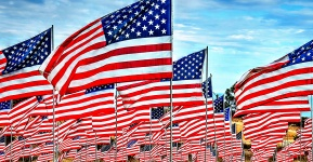 just american flags artistic