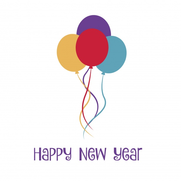Happy New Year Balloons Free Stock Photo Public Domain