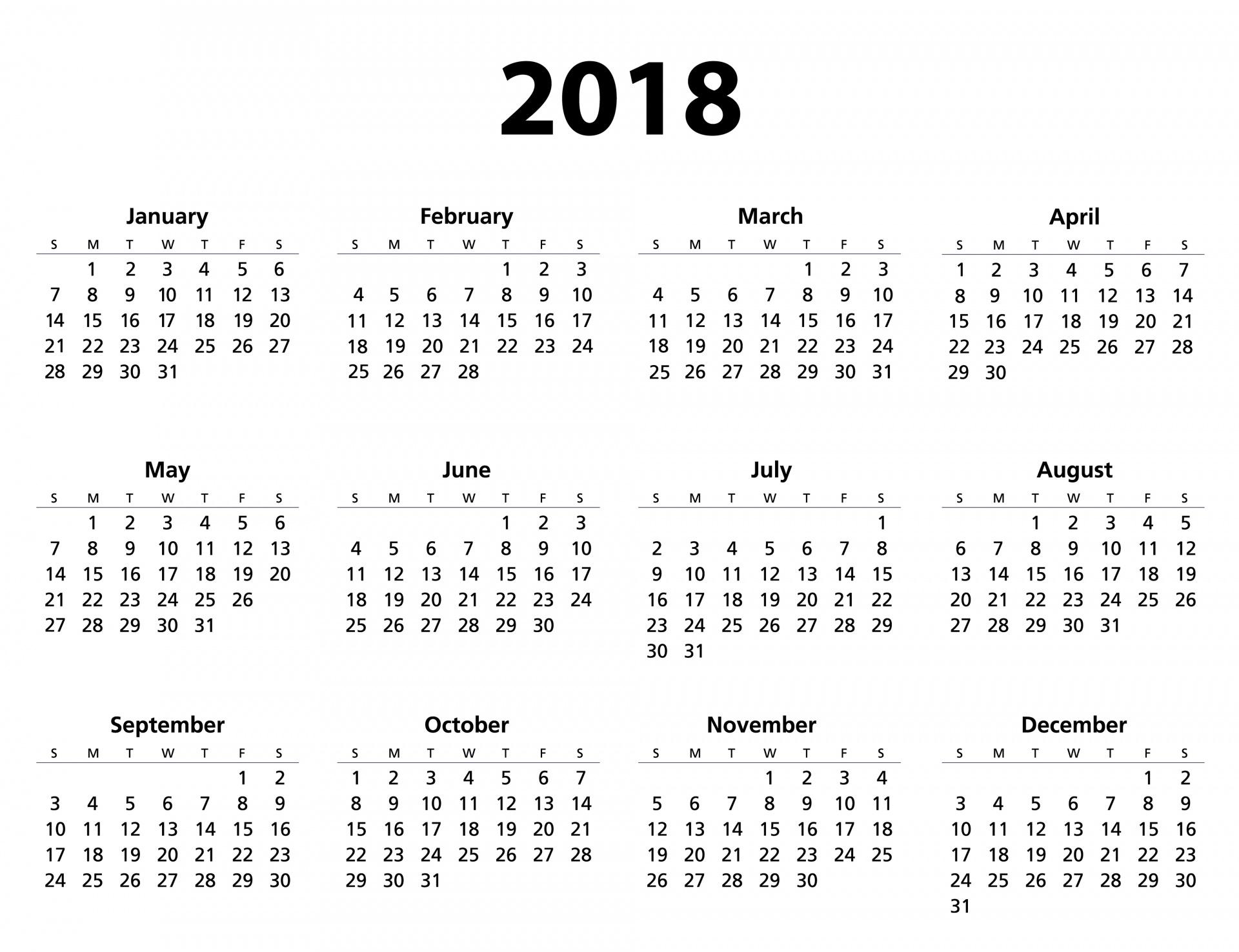 Calendar Template Free Stock Photo