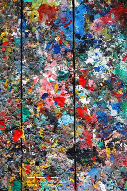 Messy Colorful Artists Palette Free Stock Photo Public