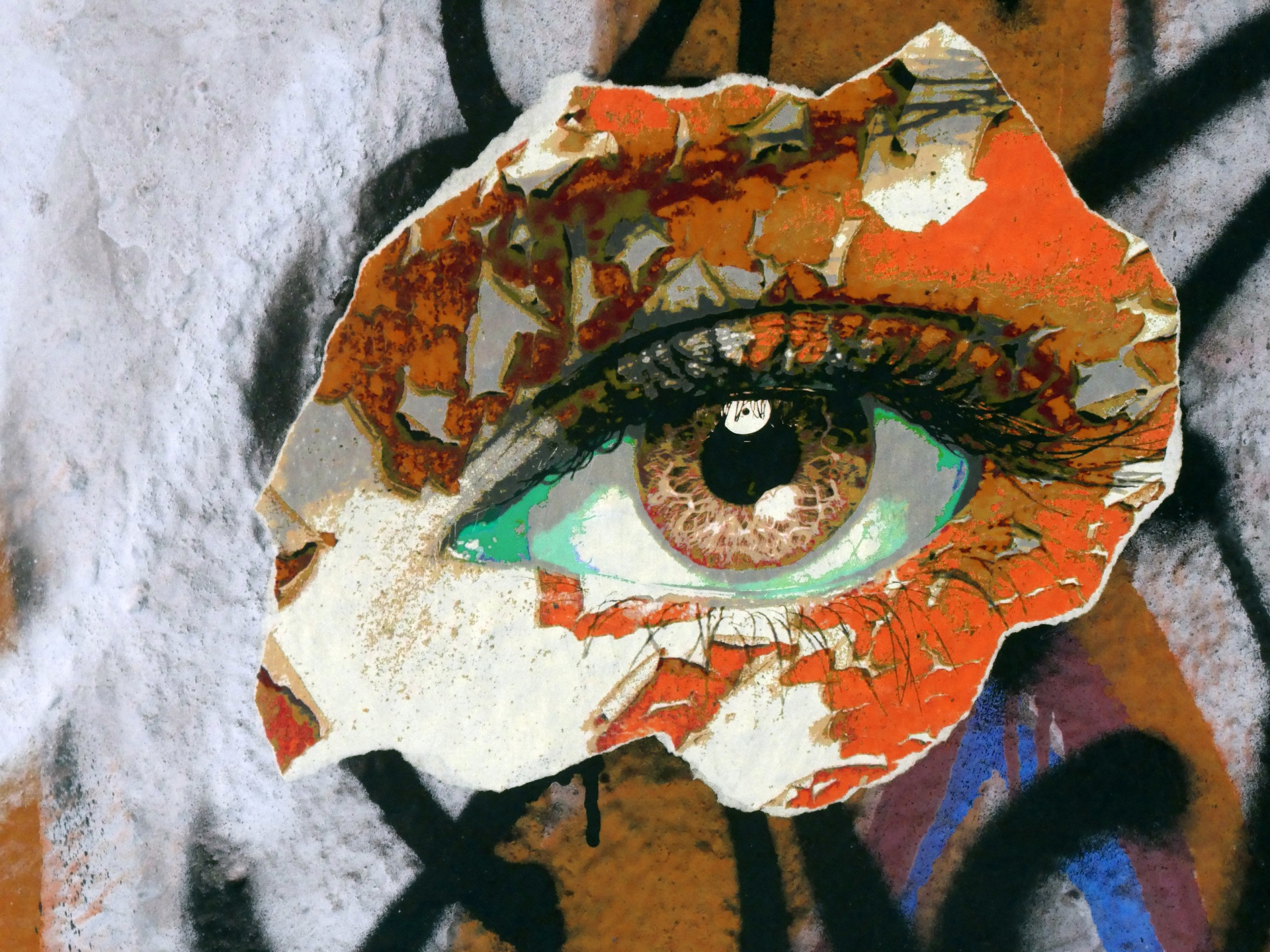 Grunge Girl Wallpaper Graffiti Eye Free Stock Photo Public Domain Pictures