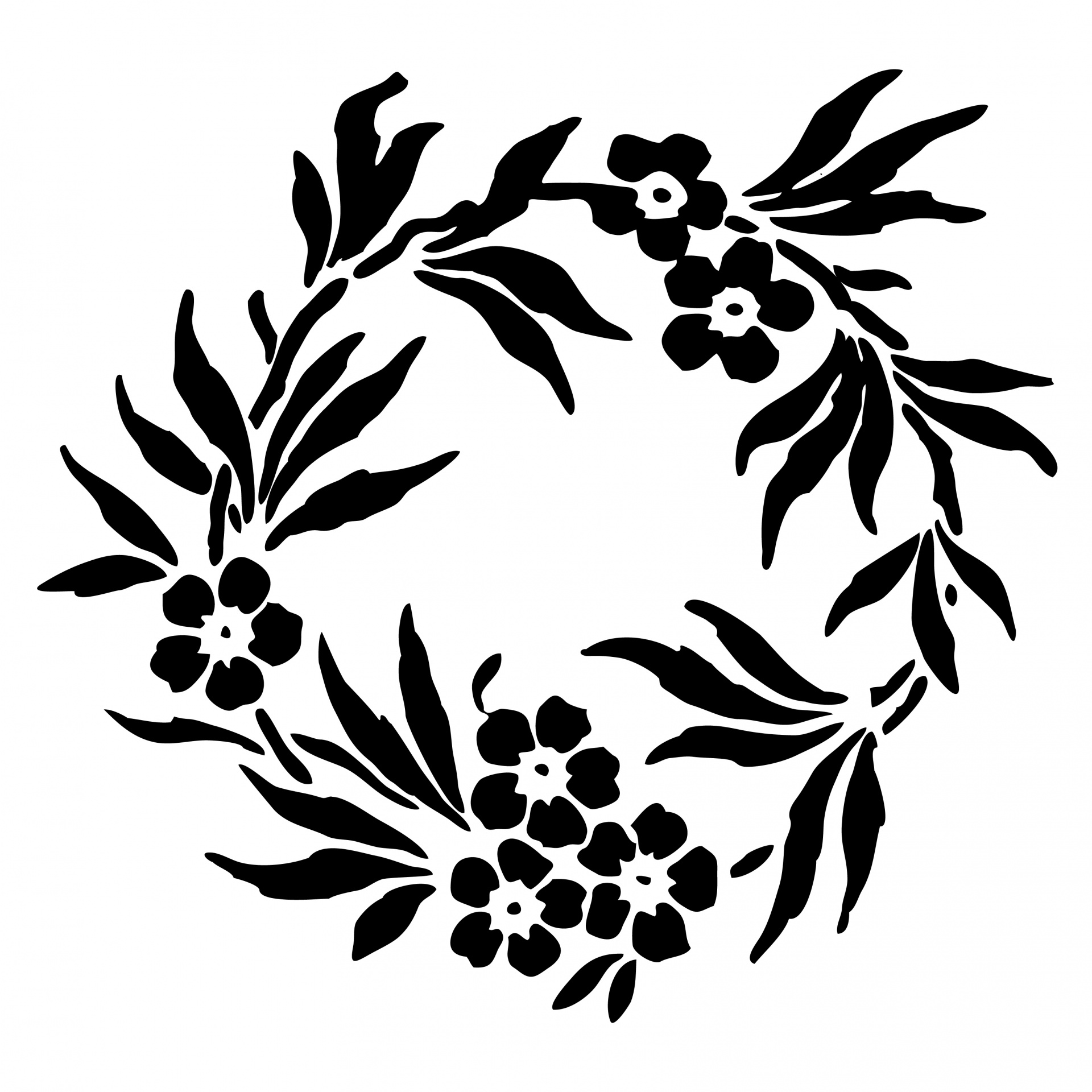 Floral Wreath Clipart Free Stock Photo