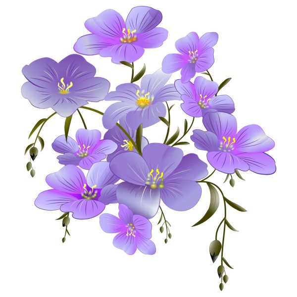 Flowers Clipart Purple Free Stock - Public Domain
