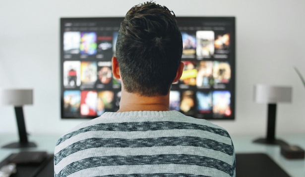 Man Watching TV Free Stock Photo  Public Domain Pictures