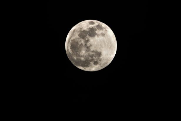 full moon on black