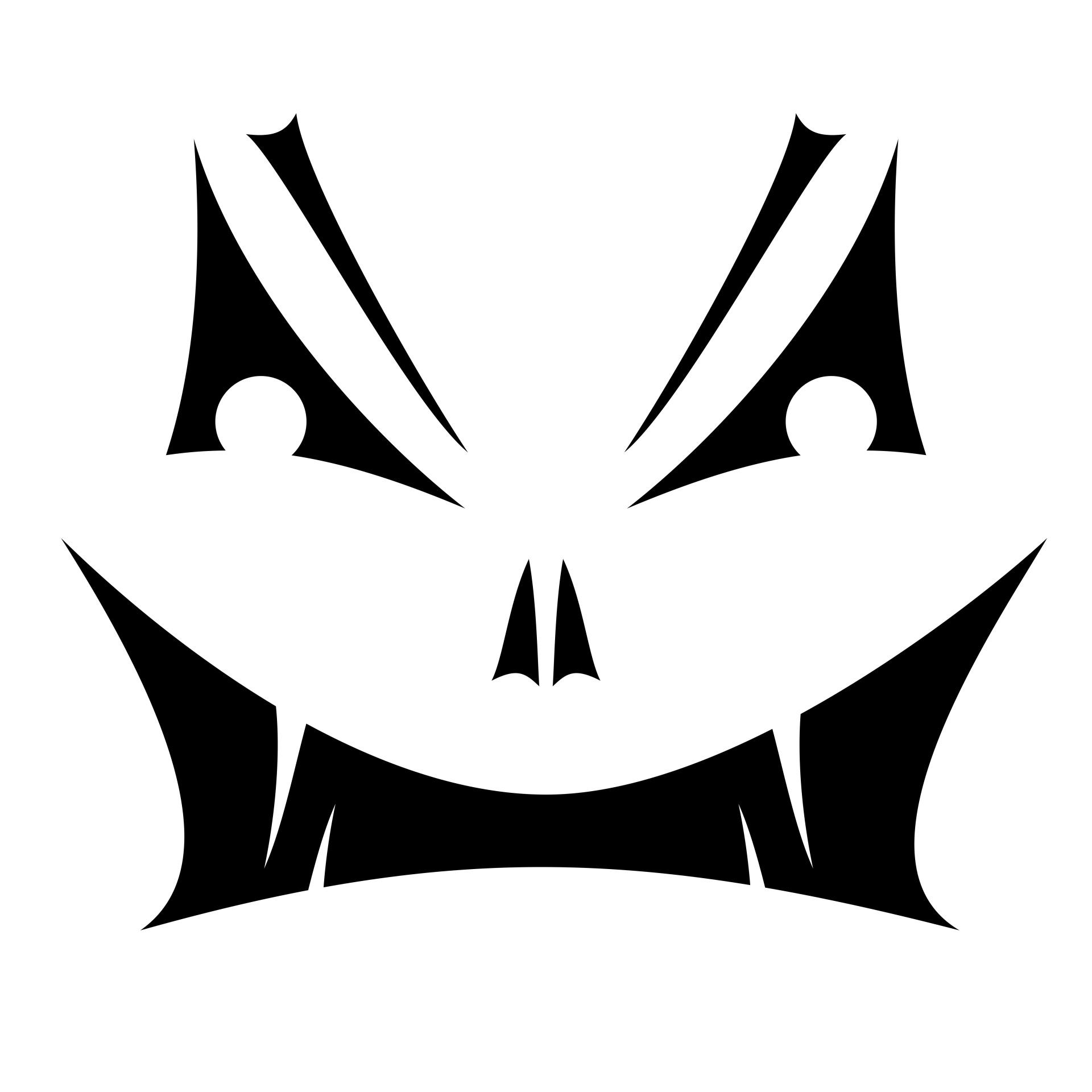 Jack O Lantern Face Stencil Free Stock Photo