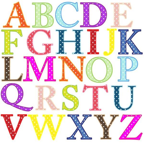 alphabet letters clip-art free
