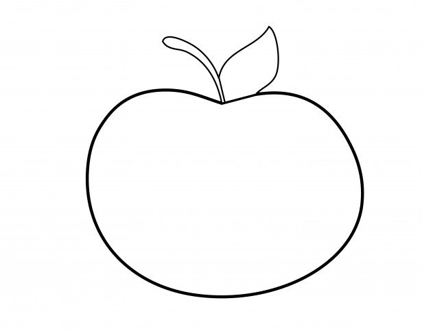 apple outline clipart free