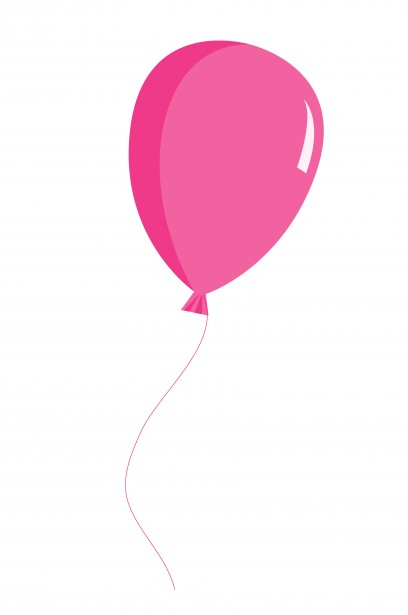 balloon pink clipart free stock