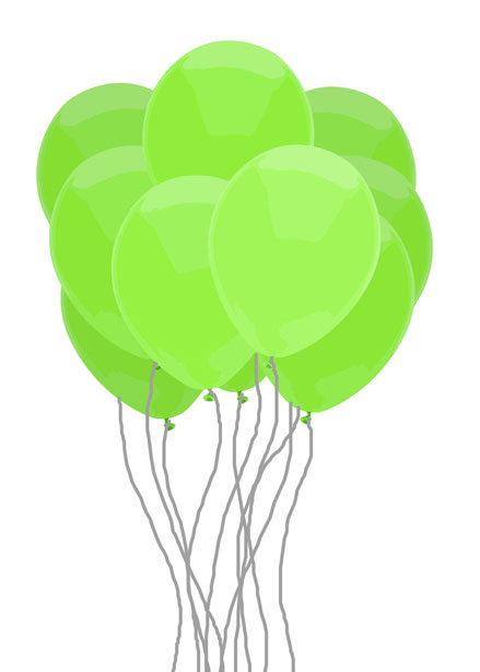 green balloon bunch free stock