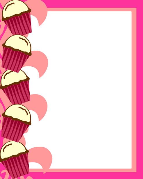 Pink Cupcake Invitation 2 Free Stock Photo  Public Domain