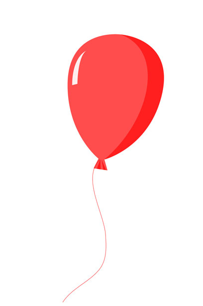 red balloon clipart free stock