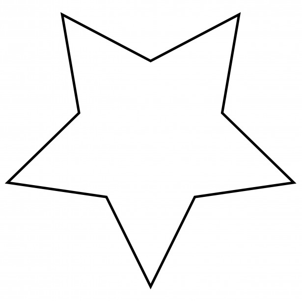 star outline clipart free